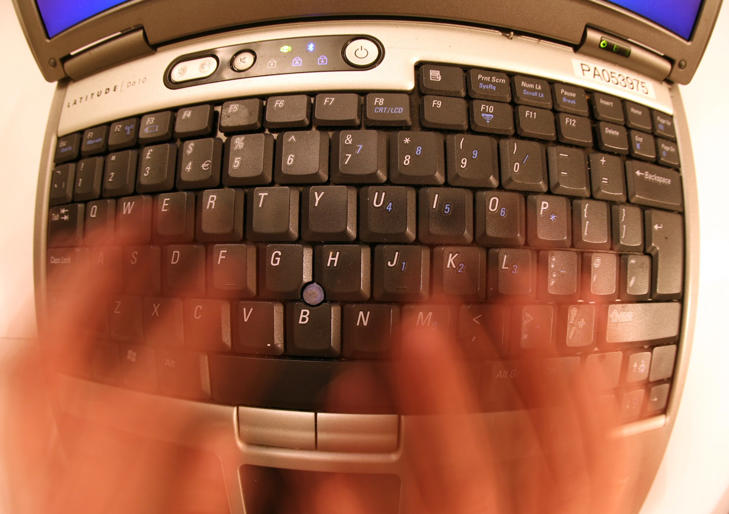 A laptop keyboard. (Photo by Martin Keene - PA Images/PA Images via Getty Images)