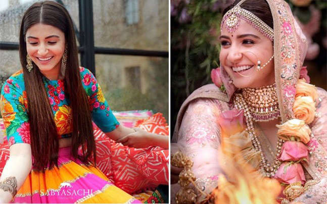 Anushka Sharma Wedding.This Is What Anushka Sharma Wore For Her Mehendi Engagement And Wedding