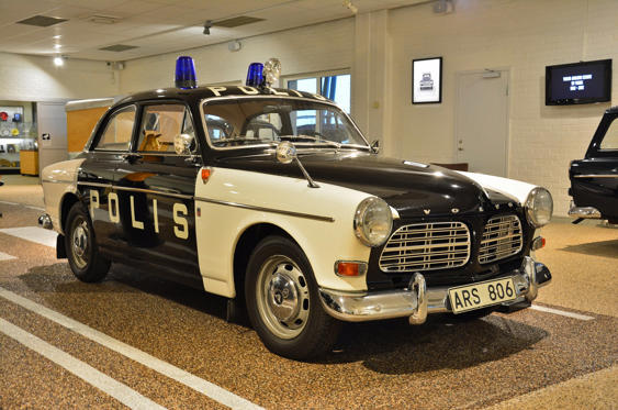Slide 17 of 78: <p>The Volvo Amazon represented the Swedish police force's best choice if it wanted a patrol car with a 'made in Sweden' label. In 1956, when the Amazon made its debut, rival Saab's only mass-produced model was the two-door 96. Taking criminals to the police station would have involved cajoling them to squeeze between the front seat and the door pillar. The Amazon's four-door layout and relatively spacious cabin made the task much simpler.</p>