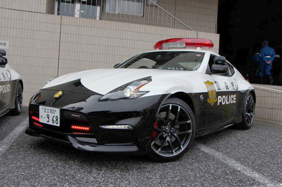 Slide 31 of 78: <p>You won't find many foreign marques being used as police cars in Japan; the domestic producers see it as a great honour to work with the law enforcement agencies. To that end Nissan produced three Nismo-spec 370Zs for Tokyo police, each one powered by a 350bhp engine.</p>