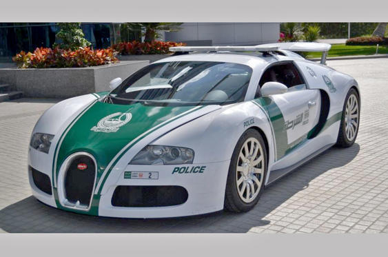 Slide 51 of 78: <p>We don't know how highly trained the Dubai police drivers are, but presumably they go through plenty of extra testing (and retesting) to get behind the wheel of one of the force's two Bugatti Veyrons.</p>