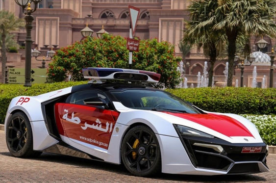 Slide 54 of 78: <p>Anything Dubai can do, fellow emirate Abu Dhabi can do better, which is why the latter has added a Lykan Hypersport to its armoury. With just seven of these cars made, at a whopping $3.4m apiece, the Hypersport isn't your average traffic car...</p>