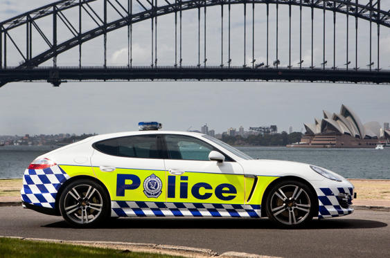 Slide 4 of 78: <p>Porsche has lent New South Wales police a Panamera for road safety awareness; it's not an operational car. it's not the only Porsche either...</p>