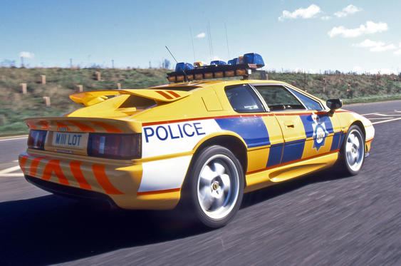 Slide 3 of 78: <p>It made sense for Norfolk Police to run a Lotus Esprit, which is built in the county. Sadly this wasn't a fully operational police car – it was just used for public events in the mid-1990s.</p>