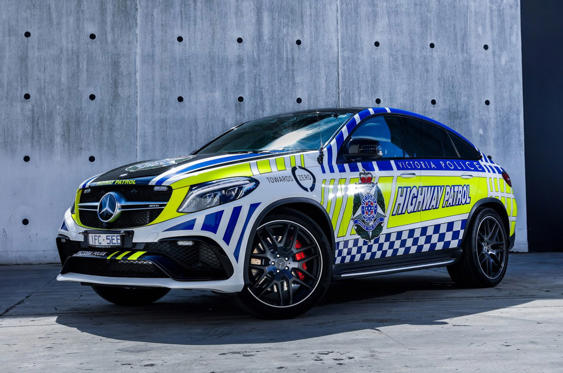 Slide 21 of 78: <p>Now Holden has built its last car, the police in Victoria have no Australian-built muscle cars to choose from, which is why Mercedes stepped in with this GLE63 AMG, on 12 months' approval. You wouldn't want to mess with it...</p>
