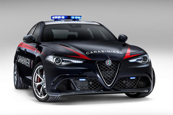 Slide 56 of 78: <p>It may have just a 2.9-litre V6 in the nose, but the Alfa Romeo Giulia QV packs a 510bhp punch that's enough to take it all the way to 191mph with 0-62mph available in all of 3.9 seconds. We'd say that's quite a rapid response vehicle.</p>