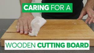 Cleaning and Caring for a Wooden Cutting Board