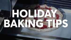 a close up of a sign: Best Holiday Baking Tips