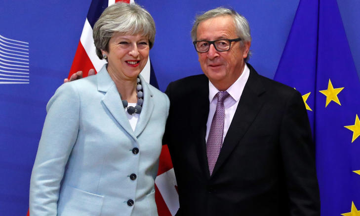 The announcement came after Theresa May and David Davis made an early-hours journey to Brussels