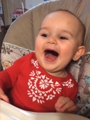 Adorable baby makes evil sounds