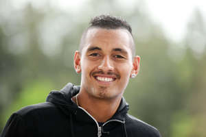 Nick Kyrgios speaks during an interview during the day one of the 2015 Sydney International at Sydney Olympic Park Tennis Centre on January 11, 2015 in Sydney, Australia.