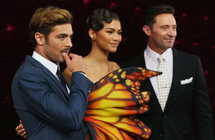Zac Efron, Zendaya and Hugh Jackman attend the Australian premiere of The Greatest Showman in Sydney.