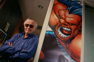 American comic book writer, editor, actor, producer, publisher, and the former president and chairman of Marvel Comics, Stan Lee co-created Spider-Man. (Photo by )