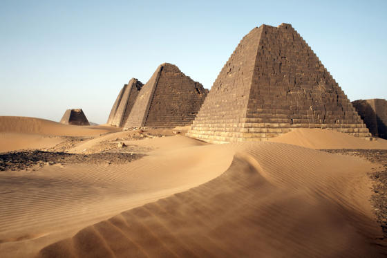 Slide 1 of 12: The pyramids of Meroe, Sudan's most popular tourist attraction, Bagrawiyah, Sudan, Africa