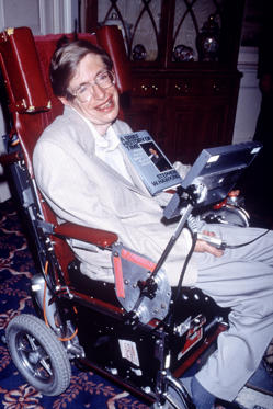 Slide 4 de 24: PROFESSOR STEPHEN HAWKING RECEIVING HIS CERTIFICATE FROM THE GUINNESS BOOK OF RECORD - 1992
