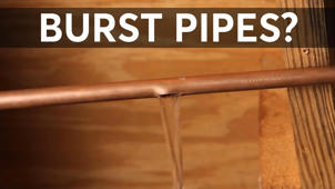 a close up of a sign: What To Do If Your Pipes Freeze and Burst