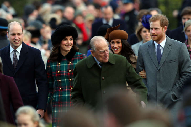 Britain's Prince William, Catherine, Duchess of Cambridge, Prince Harry and Meghan Markle arrive at St Mary Magdalene's church for the Royal Family's Christmas Day service on the Sandringham estate in eastern England