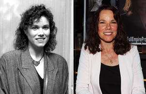 Barbara Hershey attends Los Angeles Critics Circle Awards on January 29, 1987 at the Westwood Marquis Hotel in Westwood, California; Barbara Hershey attends Chiller Theatre Expo Spring 2017 at Hilton Parsippany on April 21, 2017 in Parsippany, New Jersey.