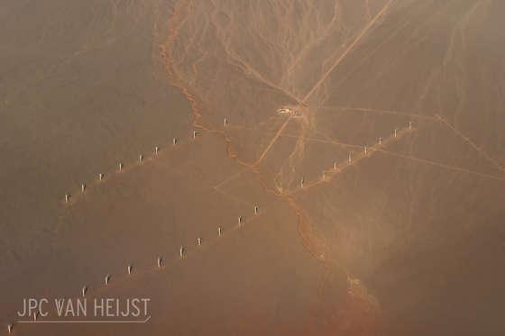 Slide 18 of 31: Windmills in the Gobi desert, China