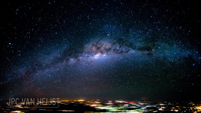 Slide 21 of 31: Galaxy view over Brazil