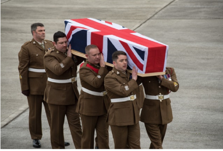 The repatriation of Captain Dean Sprouting at RAF Brize Norton in Oxfordshire (Corporal Donald Todd/Ministry of Defence/PA)