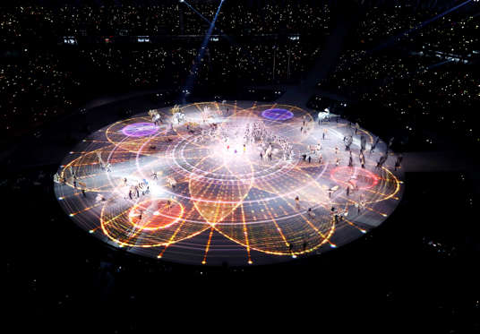 Slide 110 of 110: Pyeongchang 2018 Winter Olympics – Opening ceremony – Pyeongchang Olympic Stadium - Pyeongchang, South Korea – February 9, 2018 - A general view shows the opening ceremony. REUTERS/Pawel Kopczynski