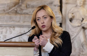 The leader of Fratelli d'Italia party Giorgia Meloni during the assembly of Family day and Catholic Alliance presents the programme for the party for the upcoming general elections to be held on March 4 on January 27, 2018 in Rome, Italy.