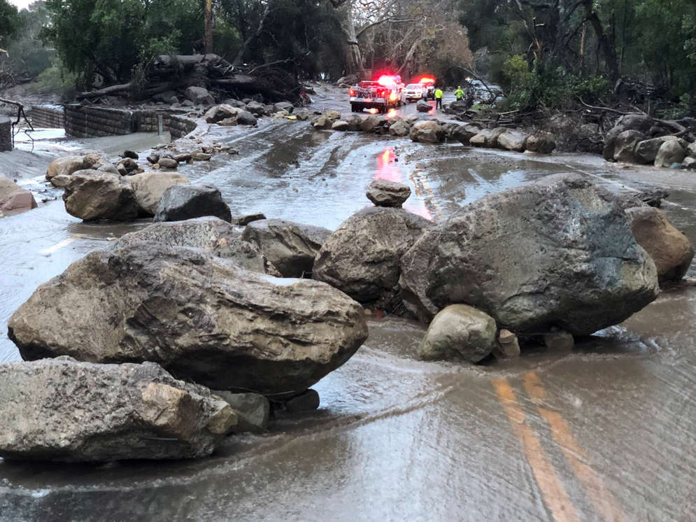 At least 5 dead as heavy rains trigger flooding, mudflows and freeway closures across Southern California