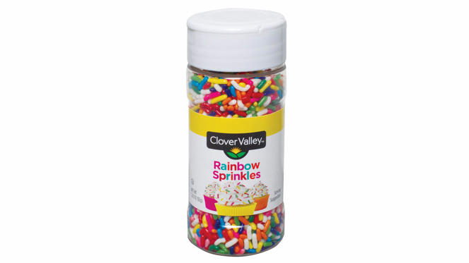 Slide 9 of 22: <p><strong>Cost:</strong> $1</p><p>Make your next meal a little more festive for only $1 when you shop at discount grocery stores like Dollar General. From birthday cakes to sugar cookies, all baked goods look tastier with sprinkles on them.</p>