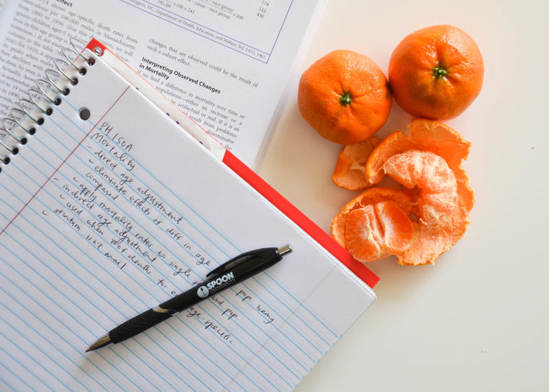 a close up of a piece of paper: reduce cravings for junk food orange citrus
