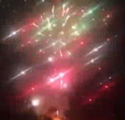 What a show! Thousands of fireworks go off when stall catches fire