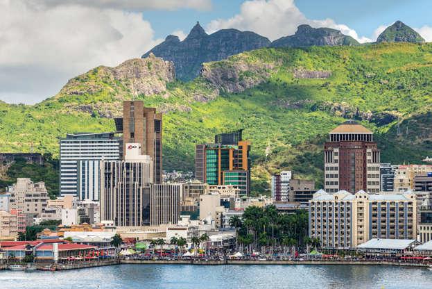 Διαφάνεια 21 από 51: Port Louis, Mauritius - December 12, 2015: Port Louis cityscape, Mauritius. The city is the country's economic, cultural, political centre and most populous city.