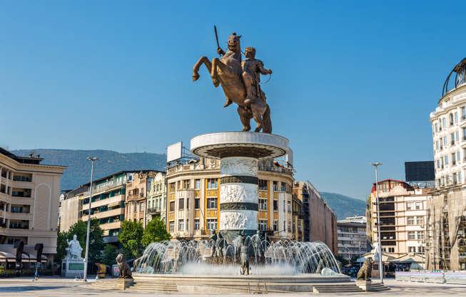 Διαφάνεια 13 από 51: Alexander the Great Monument in Skopje - Macedonia