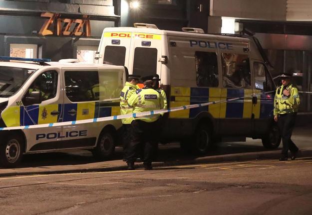 Police outside the Zizzi restaurant in Salisbury