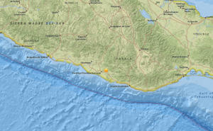 "<span style=""font-size:13px;"">The epicenter was close to the Pacific coast in the southern state of Oaxaca and had a depth of 26.7 miles (43 km).</span>"