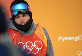 Gus Kenworthy of the United States failed to put together a run in the finals the men's ski slopestyle at the Pheonix Snow Park at the 2018 Pyeongchang Winter Olympics in Bokwang in Pyeongchang in South Korea. February 18, 2018.