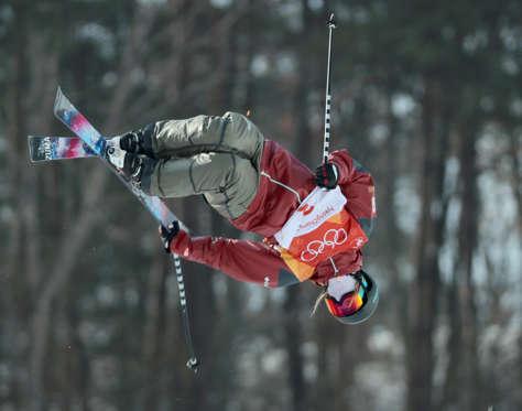 Slide 2 of 110: Freestyle Skiing - Pyeongchang 2018 Winter Olympics - Women's Ski Halfpipe Training - Phoenix Snow Park - Pyeongchang, South Korea - February 20, 2018 - Cassie Sharpe of Canada trains.