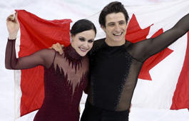 The Internet is thrilled over Tessa Virtue and Scott Moir's gold medal