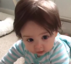 Baby has rock star hairstyle and loves it