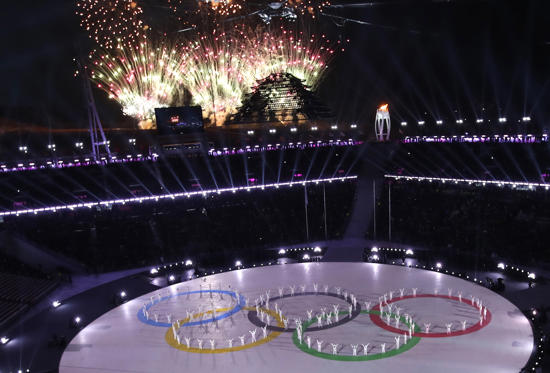 Slide 1 of 93: Fireworks explode during the closing ceremony on Feb. 25 in Pyeongchang, South Korea.