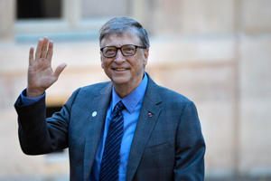 PARIS, FRANCE - DECEMBER 12:  Bill Gates arrives for a meeting with French President Emmanuel Macron as he receives One Planet Summit's international philanthropists at Elysee Palace on December 12, 2017 in Paris, France.  Macron is hosting the One Planet climate summit, which gathers world leaders, philantropists and other committed private individuals to discuss climate change. (Photo by Aurelien Meunier/Getty Images)