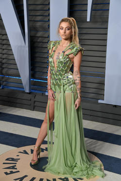 Slide 4 of 17: BEVERLY HILLS, CA - MARCH 04:  Actress Paris Jackson attends the 2018 Vanity Fair Oscar Party hosted by Radhika Jones at Wallis Annenberg Center for the Performing Arts on March 4, 2018 in Beverly Hills, California.  (Photo by George Pimentel/WireImage)