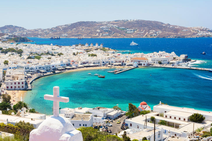 Typical view on greek island mykonos