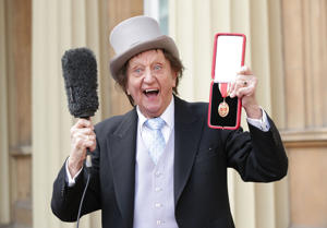 Veteran entertainer Sir Ken Dodd at Buckingham Palace, London, after he was made a Knight Bachelor of the British Empire by the Duke of Cambridge.
