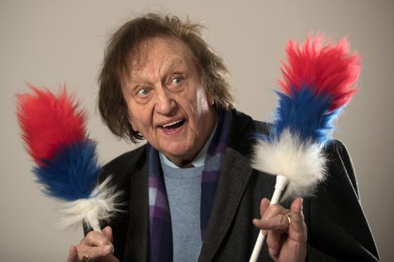 Slide 1 of 21: LIVERPOOL, ENGLAND - NOVEMBER 25:  Liverpudlian comedy legend Ken Dodd OBE poses for a portrait after he officially opened the refurbished St John's Market on November 25, 2016 in Liverpool, England. Ken Dodd is still performing to packed auditoriums at the age of 89 and is renowned for over running on his shows by hours.  (Photo by Christopher Furlong/Getty Images)
