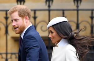 Prince Harry and Meghan Markle attending the Commonwealth Service at Westminster Abbey, London. Photo credit should read: Doug Peters/EMPICS Entertainment