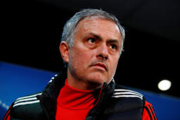 Manchester United manager Jose Mourinho during the press conference
