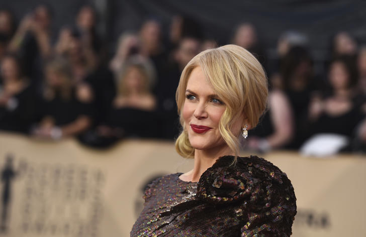 Nicole Kidman arrives at the 24th annual Screen Actors Guild Awards at the Shrine Auditorium & Expo Hall on Sunday, Jan. 21, 2018, in Los Angeles.