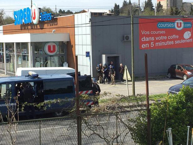 About eight people were taken hostage at the supermarket