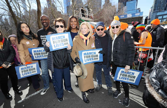 Slide 2 of 85: Photo by: John Nacion/STAR MAX/IPx 2018 3/24/18 Billie Jean King, Caroline Mulroney, Michael J. Fox and Tracy Pollan at March For Our Lives in New York City.